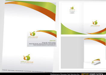 Stationery Design Set - vector #167685 gratis