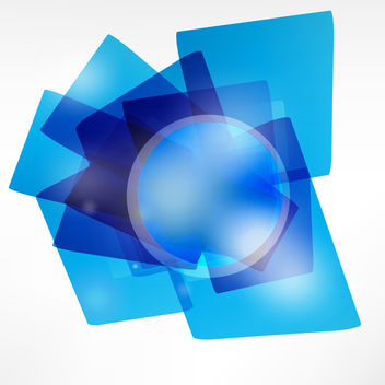 Transparent Blue Geometric Shape Background - vector #167765 gratis