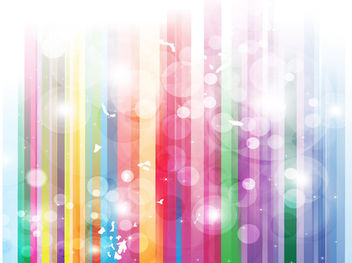 Stripy Rainbow Background with Bubbles - vector gratuit #167795