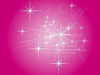 Abstract Rays with Starry Pinkish Background - vector #167805 gratis