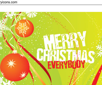 Template Christmas Card with Grungy Text - Free vector #167895