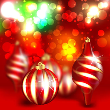 Abstract Background Christmas Ornaments - Free vector #167925