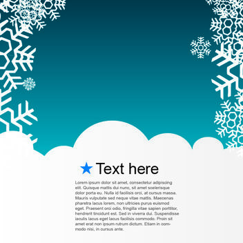 Blue Snowy Template Xmas Layout - Free vector #167955