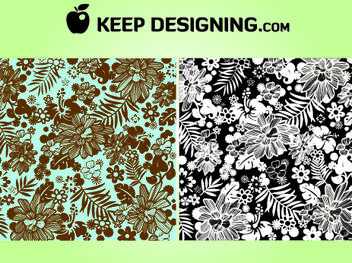 Smooth Floral Plant Jungle Wallpaper - vector #167985 gratis