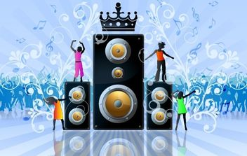 Beautiful Musical Party Flyer - vector gratuit #168035