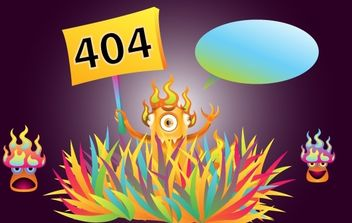 Monster 404 Error Illustration - vector gratuit #168085