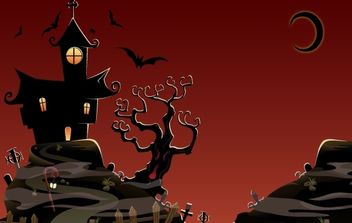 Haunted House and Horror Stuffs - vector gratuit #168095