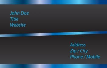 Black & Blue Glowing Business Card - vector gratuit #168225