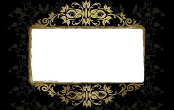 Grungy Vintage Floral Frame Template - Kostenloses vector #168235