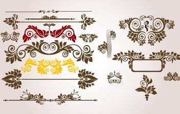 Vintage Floral Ornament Pack - vector #168255 gratis