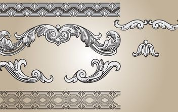 Ornament Shape and Seamless Pattern - vector #168265 gratis