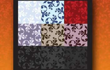 Curly Swirl Floral Seamless Pattern - Free vector #168325