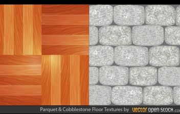 Parquet and Cobblestone Floor Textures - бесплатный vector #168335