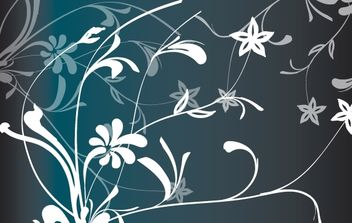 Vector Flower with Floral Pattern - vector gratuit #168375