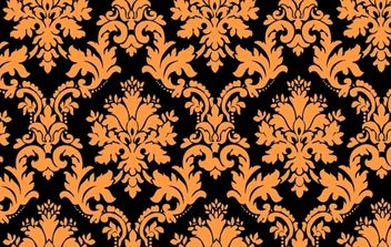 Golden Floral Vintage Pattern Art - vector gratuit #168405