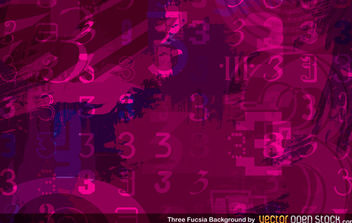 Three Fuscia Background - Kostenloses vector #168445