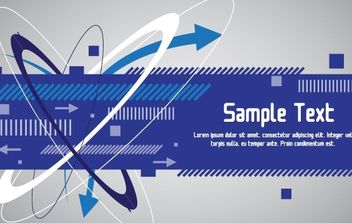 Techno Blue Banner Design - vector gratuit #168465