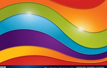 Wavy Rainbow Background - Free vector #168525