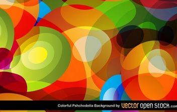 Colorful Psychodelia Background - Free vector #168535