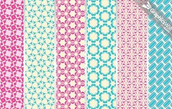 6 Tileable Vector Patterns - vector #168555 gratis