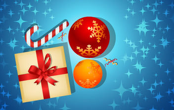 Christmas Card With Gifts - Free vector #168635