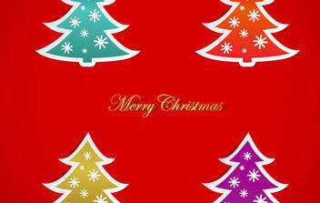 Christmas Tree Vector Graphics - Kostenloses vector #168655