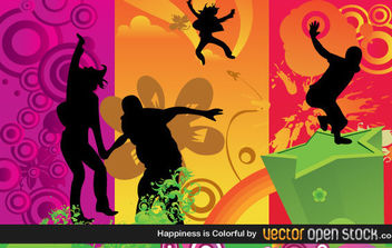 Happiness is colorful - Free vector #168695