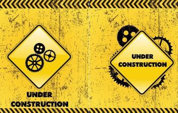 Under Construction Backgrounds - vector gratuit #168755