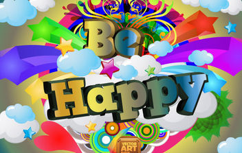 Be Happy Vector - Free vector #168775