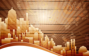 City banner - vector #168805 gratis