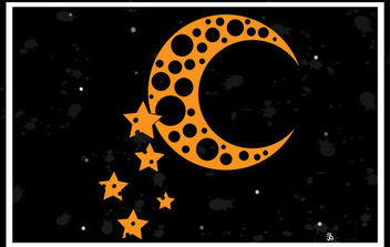 Moon and Stars Vector Background - Free vector #168835