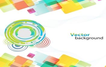 Colorful Background With Different Shapes - vector gratuit #168935