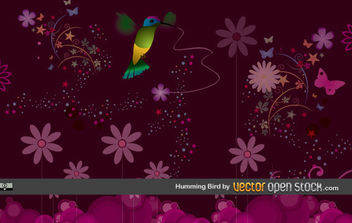 Humming Bird - Free vector #168955