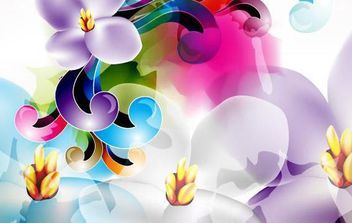 Floral Ornament Vector Illustration - Kostenloses vector #168985