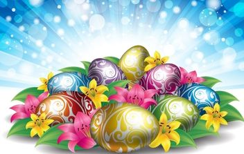 Easter Background 2 - Free vector #169045