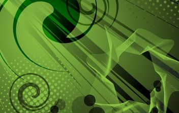 Abstract Green Vector Background - Free vector #169055