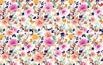 Flowers Seamless Pattern - vector gratuit #169125
