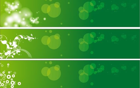 Green Floral Banners Vector - vector gratuit #169135
