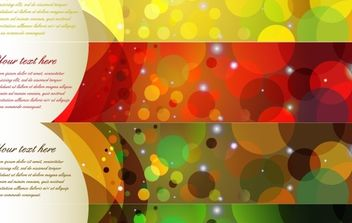 Colorful Abstract Banner - Kostenloses vector #169145