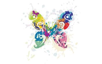 Multicolored Butterfly Graphic - Free vector #169255