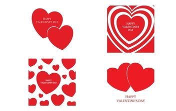 Happy Valentine's Day Vector - vector gratuit #169295
