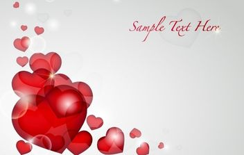 Valentine's Day Heart Card Vector - vector gratuit #169335