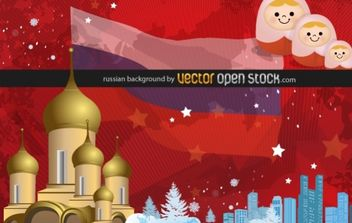Russian background - vector gratuit #169415