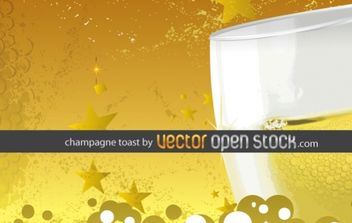 Champagne toast - Kostenloses vector #169425