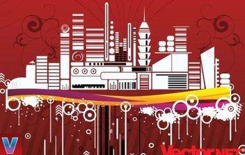 Free Urban City Vector Illustration - Kostenloses vector #169435