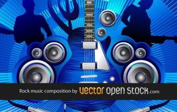 Rock music composition - Free vector #169445