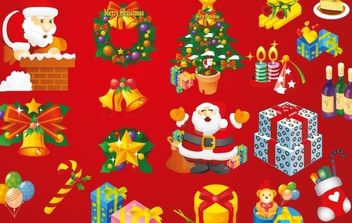 Christmas Vector Art Elements - Free vector #169495