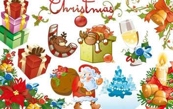 Christmas design elements - vector gratuit #169565