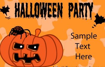Halloween Party Invitation Card 1 - vector #169765 gratis