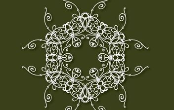 Decorative free vector on the green background - vector gratuit #169815